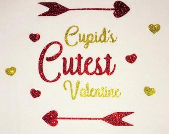 Cupid's Cutest Valentine Baby Bodysuit, Valentine Day Bodysuit, Cupid Bodysuit, Baby Cupid Bodysuit
