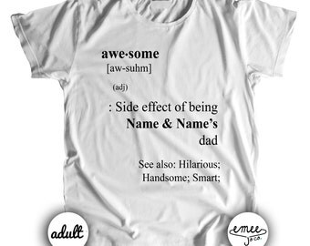 Dad Awesome Definition Shirt, Dad Birthday Gift, Dad Tshirt, Dad and Baby Matching Shirts, Shirts for Men, Shirts for Dad, Fathers Day Gift