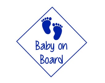 Baby on Board Decal, Baby Decal, Mommy Decal, Mom Car Decal, Car Vinyl Decal, Boy on Board, Girl on Board, New Mom Gift, Baby Shower Gift