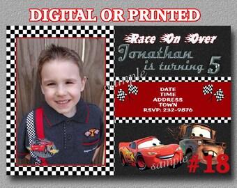 Disney Cars Birthday Invitation YOU Print Digital File or PRINTED Birthday Party Cars Invitation
