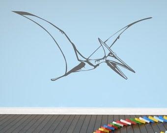 Flying Pterodactyl Wall Art Sticker (AS10015)