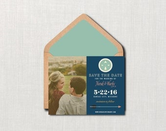 Camp Photo Wedding Save the Date // 4.25x5.5 Card // DIY PRINTABLE //  Camp Save the Date, Modern Wedding, Photo Save the Date
