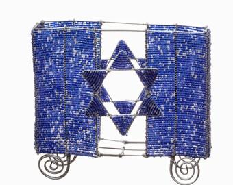Beaded Matzah Holder