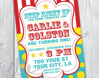 Carnival/Circus Party Invitation