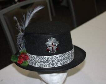 Black Steampunk, Victorian, Gothic Top Hat