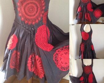 Romantic Dress, Altered Couture, Alternative Wedding Dress, Hitch Dress, Vintage All Saints Dress