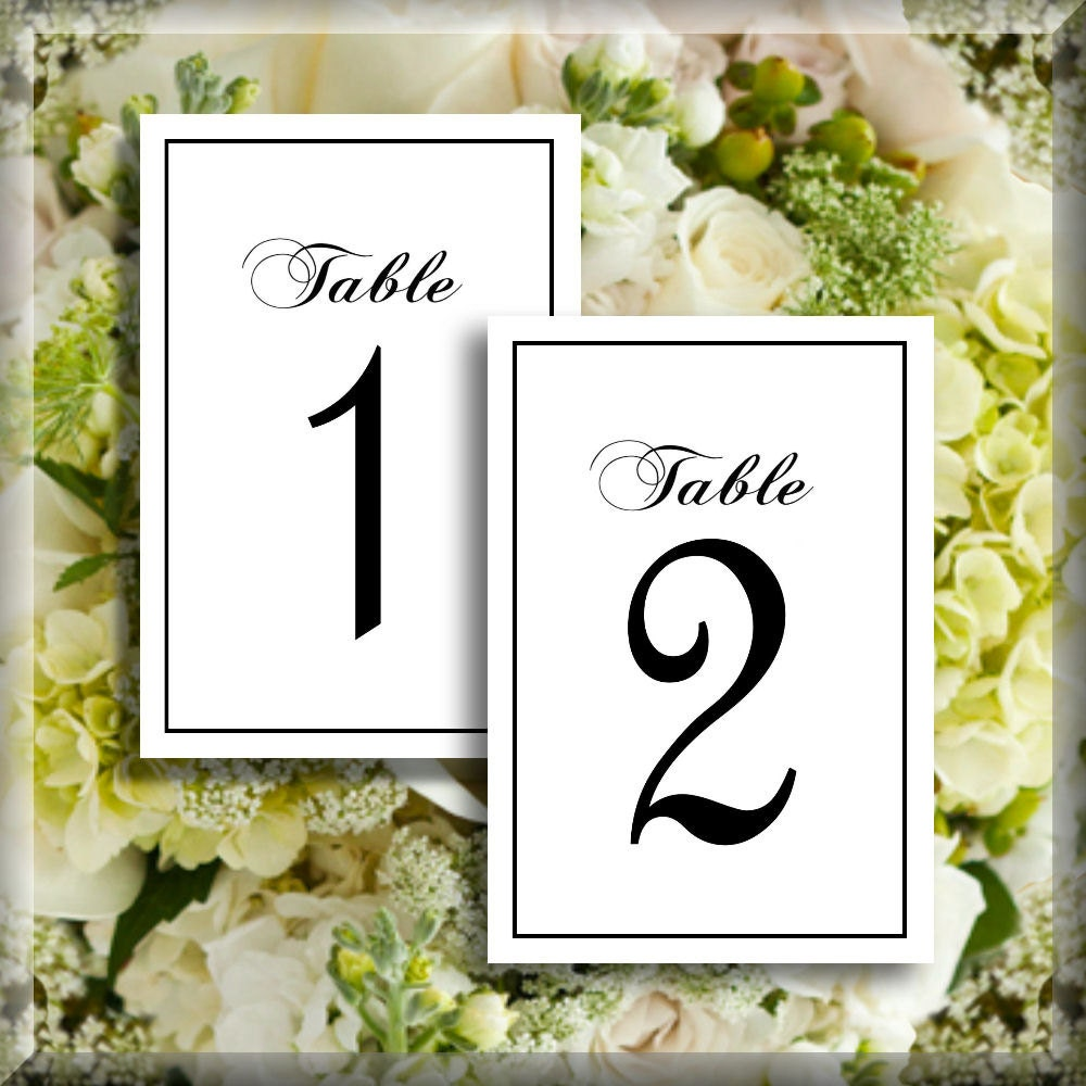 This is a picture of Influential Free Printable Table Numbers 1-30
