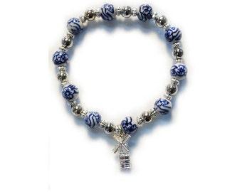 Small windmill charm bracelet