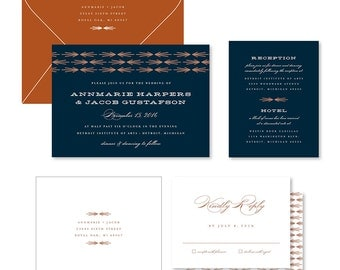 Wedding Invitation Suite Sample - Arrow