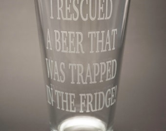 Funny Beer Mug - Gift for Guys - Etched Beer Glass - Gift for Beer Lover - Man Cave Bar - Husband Gift - Fathers Day Gift - Craft Beer Glass