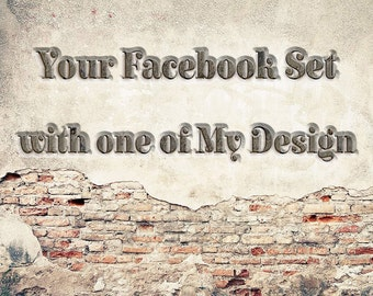 Facebook Timeline Photo - Facebook Cover Photo and Profile Picture Made to Match - Facebook Branding - Facebook Timeline Cover Photo Set -