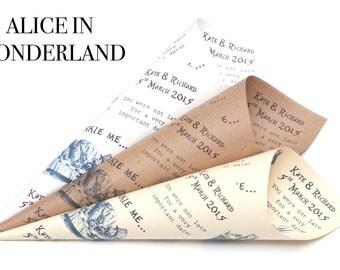 Alice in Wonderland Confetti cones Pack of 5
