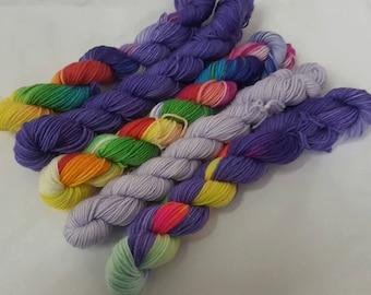 Twilight Mini's Handdyed Sock Yarn