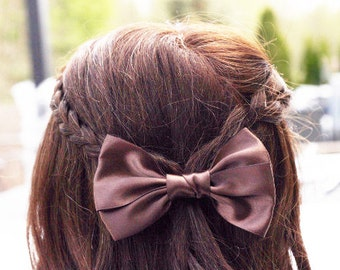 Brown Big Bow Hair Clip