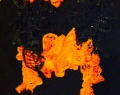 HuGE sALe, 65% OFF Orange and Black Sashay Ruffle Scarf, Women's Scarves, Fashion Accessory, Halloween Scarf