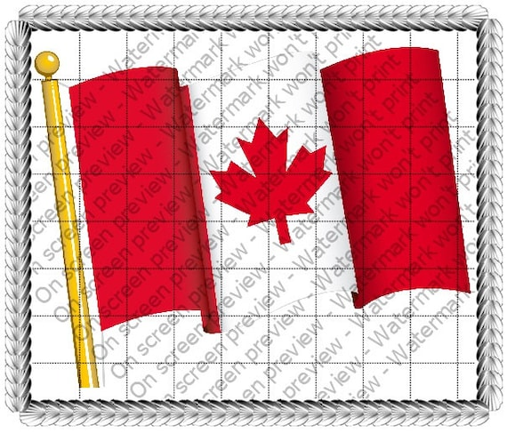 Canadian Flag - Edible Cake and Cupcake Topper For Birthday's and Parties! - D234