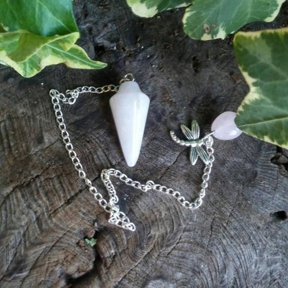 Rose Quartz Pendulum, Crystal Pendulum, Dowsing Pendulum, Pendulum, Dowsing, Pendulum Crystal