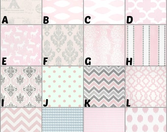 Custom Crib Bedding and Nursery Decor / Design Your Own / Crib Bumper / Crib Skirt / Crib Sheet / Premier Prints / Bella Storm