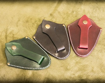 Genuine leather key bell  (choose color)