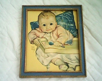 1920s ADORABLE BABY PICTURE  Maud Tousey Fangel Original Frame