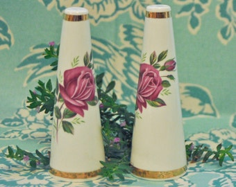 Adorable Rose Salt & Pepper Shakers
