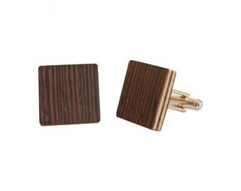Wooden Cufflinks Wengé