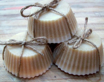 Cinnamon and Sandalwood sugar scrub bars.