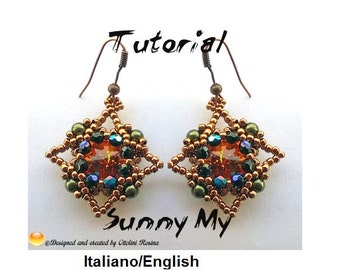 Sunny My Earrings  (Tutorial graphics pictures in italiano and English)