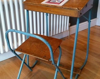 SOLD Vintage Childs/Toddlers School Desk and Chair SOLD