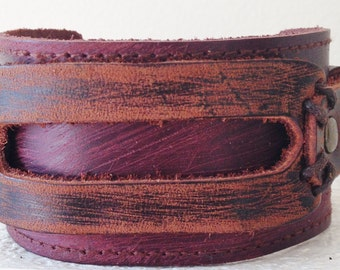 Brown Genuine Leather Bracelet