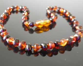 Beautiful Baltic Amber Necklace Cognac - Cherry  Colours