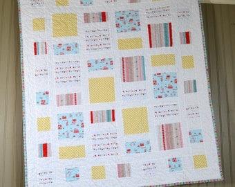 Quilt, Baby Quilt, Baby Bedding, Handmade Quilt, Baby Blanket, Nursery Quilt, Crib Bedding, Baby Shower Gift, Nursery Bedding