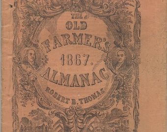 Old Farmer's Almanac, 1867, good shape