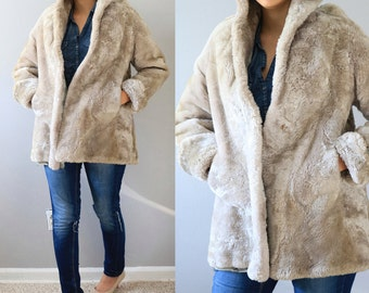 Vintage Real Fur Coat/Fur Winter Coat/Fur Jacket/Real Fur Jacket/Vintage Coat