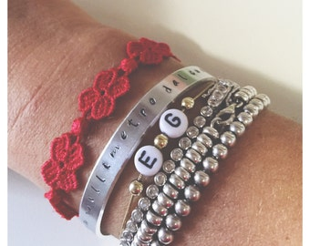 Bracelets aluminum engraved handmade