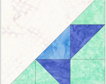Half Friendship Star Paper Piece Templates Quilting Block Pattern PDF
