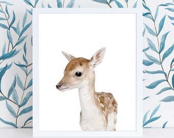 Woodland Nursery Art Print | Woodland Wall Art | Deer Fawn Nursery Printable | Nursery Wall Art | Nursery Kids Printable | Deer Art Print |