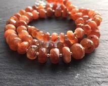 Sunstone Jewellery Set, Sunstone Necklace, Bracelet & Earring Set, Faceted Sunstone Jewellery