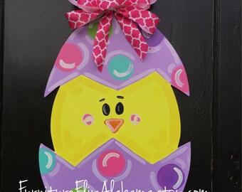 Easter Wood Door Hanger,Spring Door Decor, Spring Chick,Easter Door  Decorations,