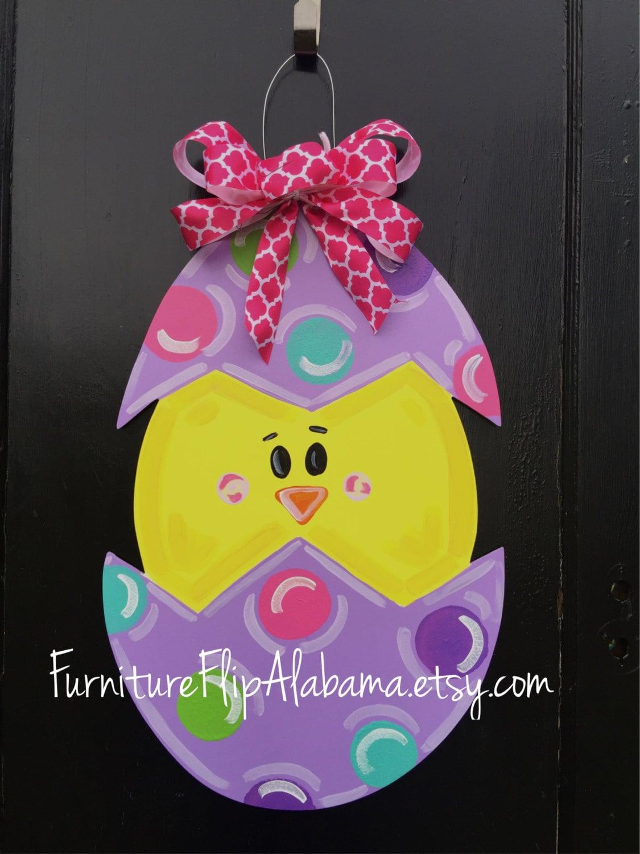 Easter Wood Door Hangerspring Door Decor Spring Chickeaster