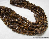 3 mm To 5 mm NATURAL TIGER EYE uncut rough gemstone beads....  beads have lots of gorgeous..