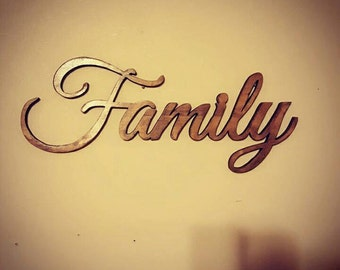 Wooden family sign ,wall decor,  family room decor ,wall hanging