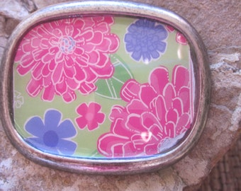 bohemian belt buckle pink purple green flower belt buckle resin belt buckle bohemian belt buckle women's belt buckle buckle
