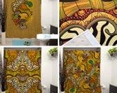 Caravan Printed Shower Curtain. Bathroom Decor, Home, Abstract, Tribal, Aminal Prints, Safari, African, Zebra, Tortoise, Nature, Wild, Art