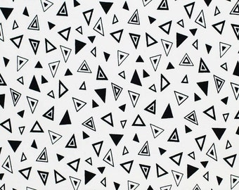 Jersey with triangles white/black