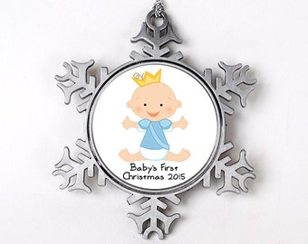 Baby Boy's 1st Christmas Ornament - Personalized Baby's First Christmas Ornament - New Baby Christmas Gift