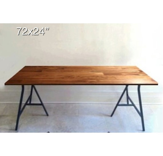 72x24 long desk or narrow dining table long table handfinished wood
