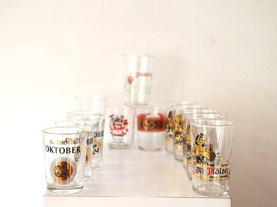 Vintage German Winery Logo Wine Tasting Glasses No Stem Wine