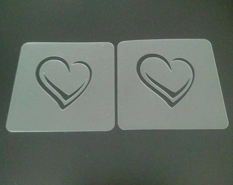 2 x heart face painting stencils for face painters and Christmas gift   Valentine love