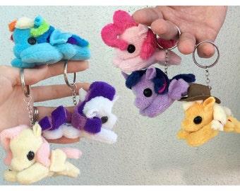 Mini Pony Plushie Keychain
